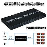 HDMI свитч / Разветвитель HDMI Switch/Splitter  2x8 (3D) , фото 3