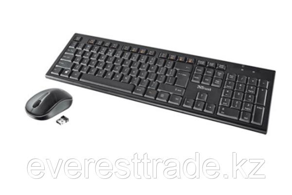 Комплект клавиатура+мышь TRUST RU NOLA WLESS черный, фото 2