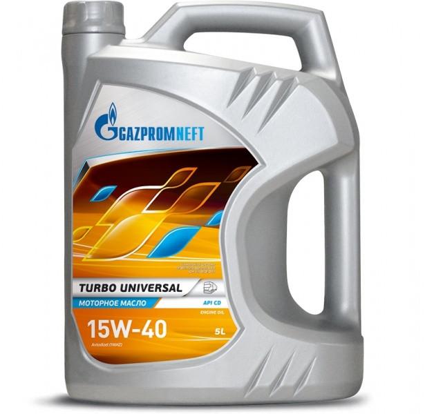 Газпром Turbo Universal 15W-40 дизельное масло 5л.