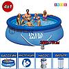 Надувной бассейн Intex 28132, Easy Set, размер 366x76 см, с фильтром-насосом производительностью 2.006 л\час