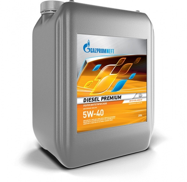 Дизельное полусинтетическое масло Diesel Premium 5W-40 Евро-4 20л.