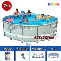 Каркасный бассейн Intex 28310, Ultra Frame Pool, размер 457x107 cм, фото 1