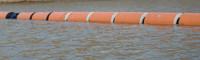Плавучий трубопровод для работы в воде с цельноавитым поплавком