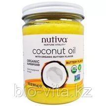 Nutiva, Органическое кокосовое масло со вкусом сливочного масла,(414 )