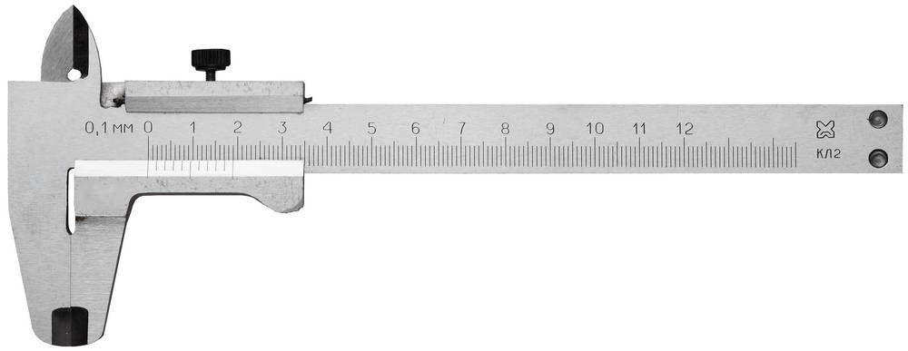(3445-125) Штангенциркуль металлический тип 1, класс точности 2, 125мм, шаг 0,1мм