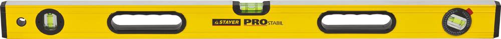 """(3471-100_z01) Уровень STAYER """"PROFI"""" PROSTABIL профессион коробчатый, усилен, 2 фрезер поверх, 3 ампулы"""