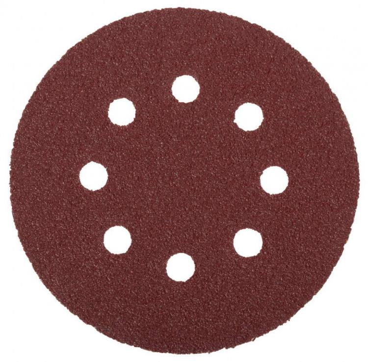 """(35562-125-080) Круг шлифовальный ЗУБР """"МАСТЕР"""" универсальный, из абразивной бумаги на велкро основе"""