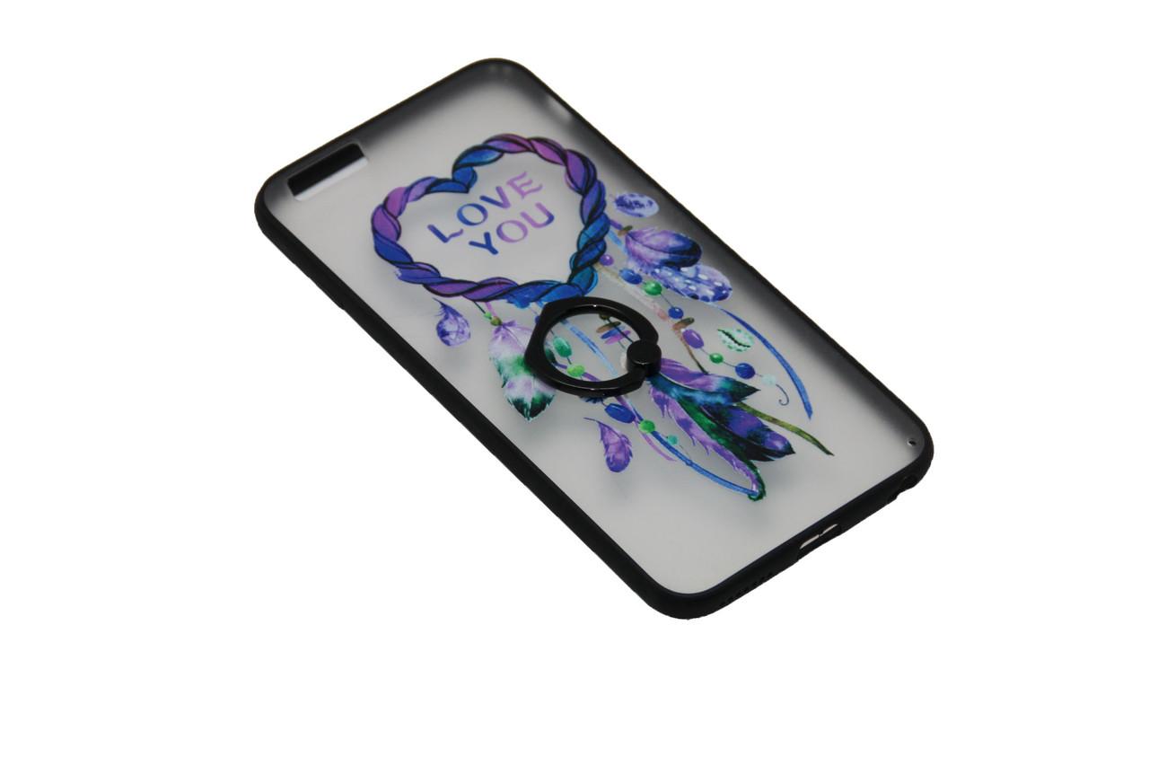 Чехол с кольцом силиконовый iPhone 7