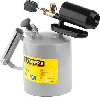 """(40655-1.0) Лампа STAYER """"PROFI"""" паяльная, стальная, 1,0 л"""