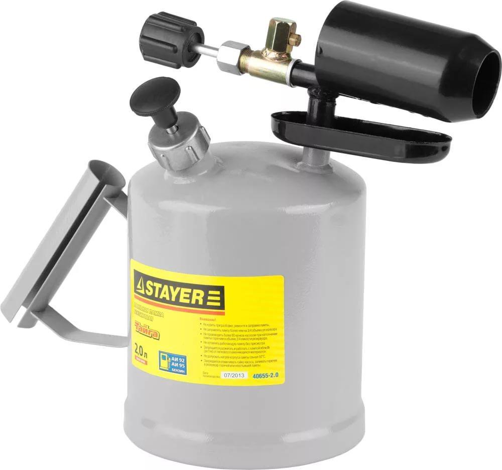 """(40655-2.0) Лампа STAYER """"PROFI"""" паяльная, стальная, 2,0 л"""