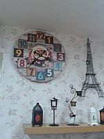 """Большие настенные часы для кухни. """"Coffee""""-серые"""