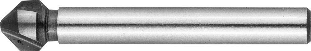 """(29732-3) Зенкер ЗУБР """"ЭКСПЕРТ"""" конусный с 3-я реж. кром.ст.P6M5 с Co покрыт.d 6,3х45 мм, цилиндр хвост.d 5мм"""
