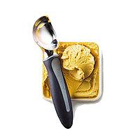 Ложка для мороженого цельная, прорезиненная ручка