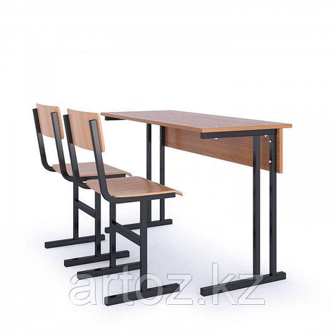Парта школьная 2-х местная + 2 стула, фото 2
