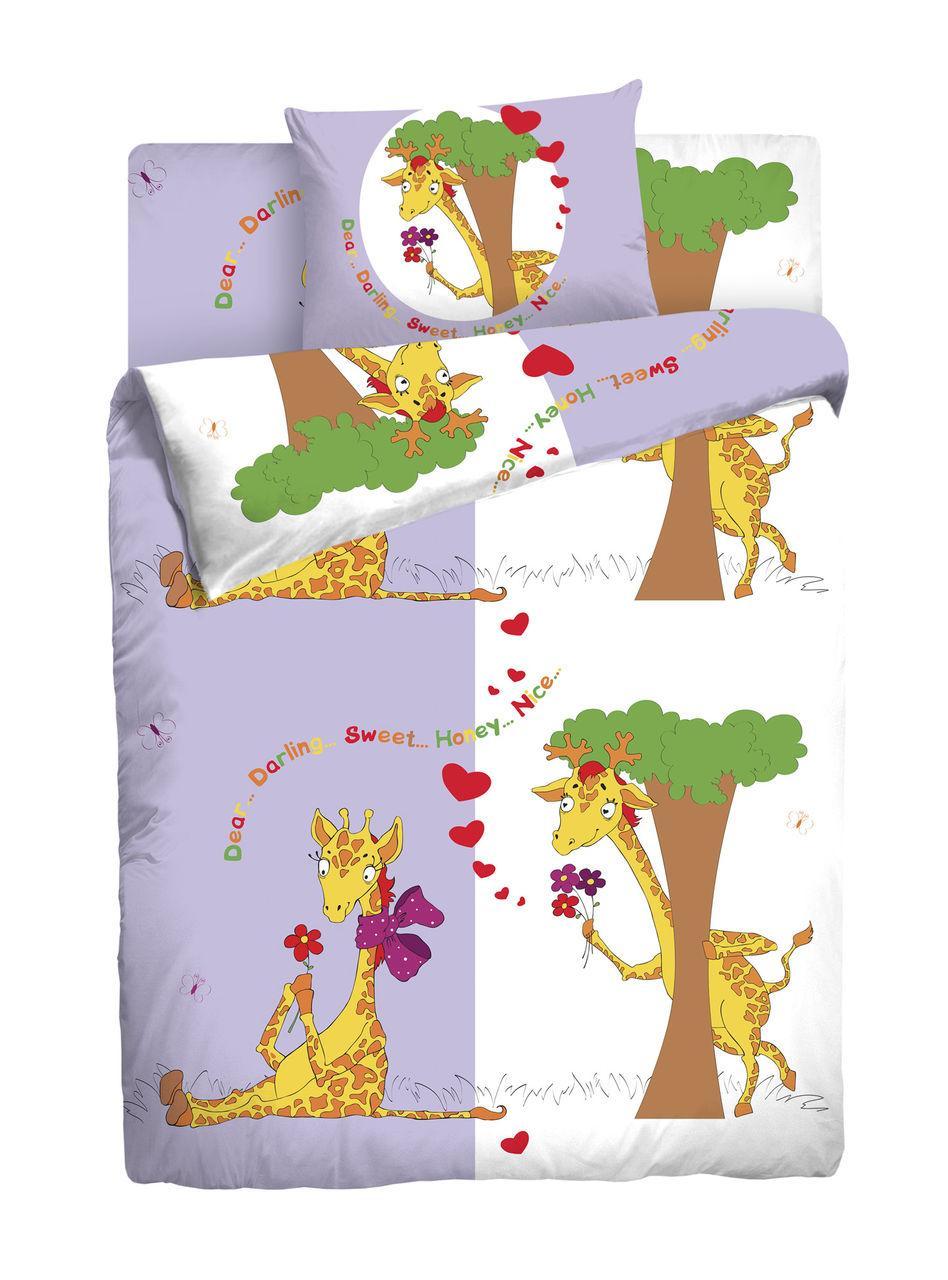 """Постельное белье Мармелад """"Влюбленные жирафы"""""""
