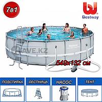 Круглый каркасный бассейн, Power Steel, Bestway 56427, размер 549х132 см, фото 1