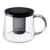 Чайник заварочный РИКЛИГ 1,5 л. стекло ИКЕА, IKEA