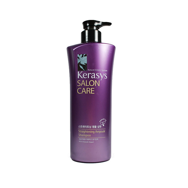 Kerasys Salon Care Straightening Ampoule Shampoo Шампунь  для волос Выпрямляющий  470 мл
