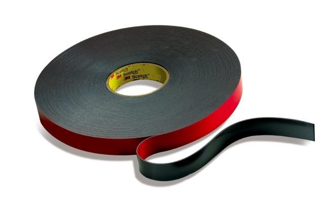 Черный вспененный двухсторонний скотч 3М™ 9556 (3мм) 12ммХ16,5м