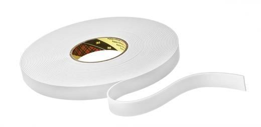 Белый вспененный двухсторонний скотч 3М™ 9508W (0,8мм) 19ммХ66м