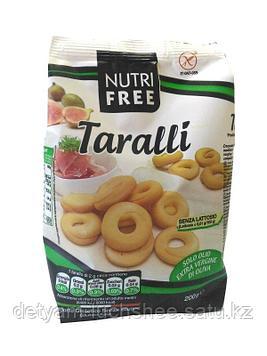 Сушки Taralli без глютена и лактозы, 200 г, Nutrifree