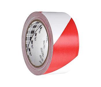 Разметочная лента 3М™ 767i в красно-белую полоску (0,13мм) 50ммХ33м