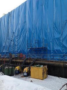 Укрытие для строительного объекта 10х15