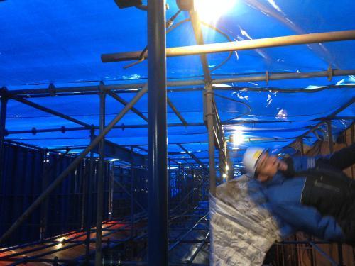 Укрытие для строительного объекта 15х20