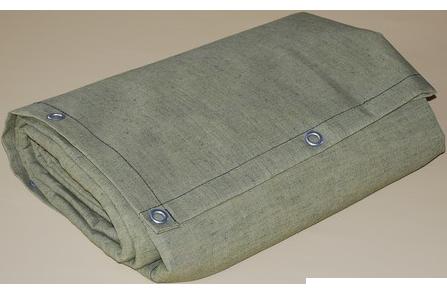 Полог брезентовый водоупорный 6 x 6 м (стандарт), с люверсами