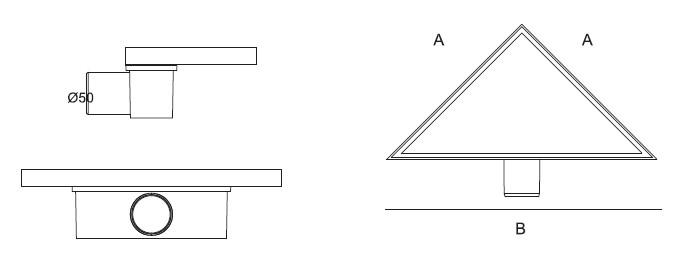 Трап для душа PD 22 треугольник - фото 3