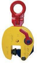 Захваты TERRIER с одним  шарниром для вертикального подъема и кантования листовой стали