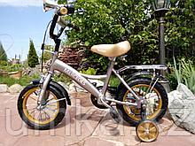 """Двухколесный велосипед Mercedes 12"""" (Серебристый)"""
