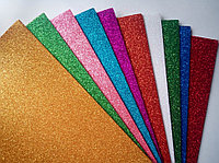 Набор цветного фоамирана самоклейка А4 10цв10л Блеск