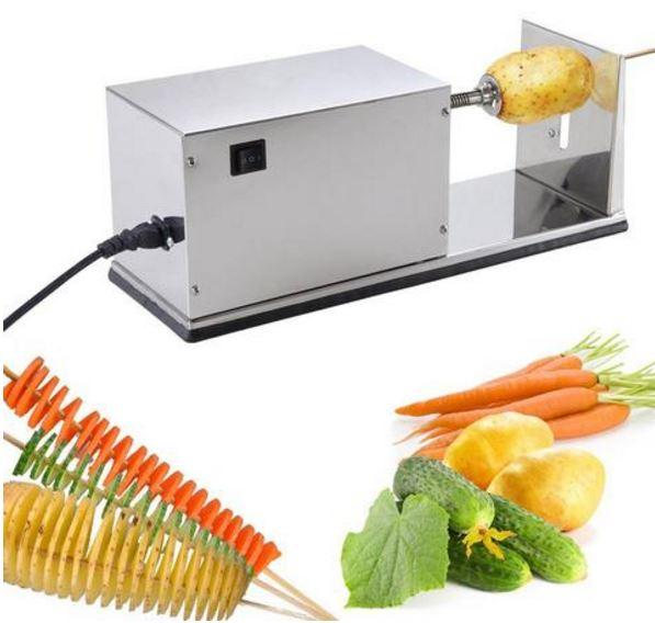 Аппарат для нарезки спиральных чипсов промышленный электрический. Чипсорезка