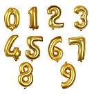 Шар надувной праздничный 1м. Цифра. Золото., фото 2