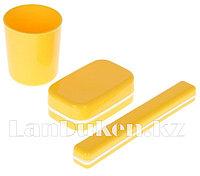 Дорожный набор, 3 предмета: мыльница, стакан, футляр для зубной щетки в ассортименте 19500 (003)