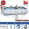 "Каркасный бассейн Bestway 56457,56244 ""Steel Pro Frame Pool"" размер 412x201x122 см"