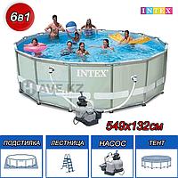 Круглый каркасный бассейн Intex 28332, 54926 Ultra Frame Pool, 549х132 см, фото 1