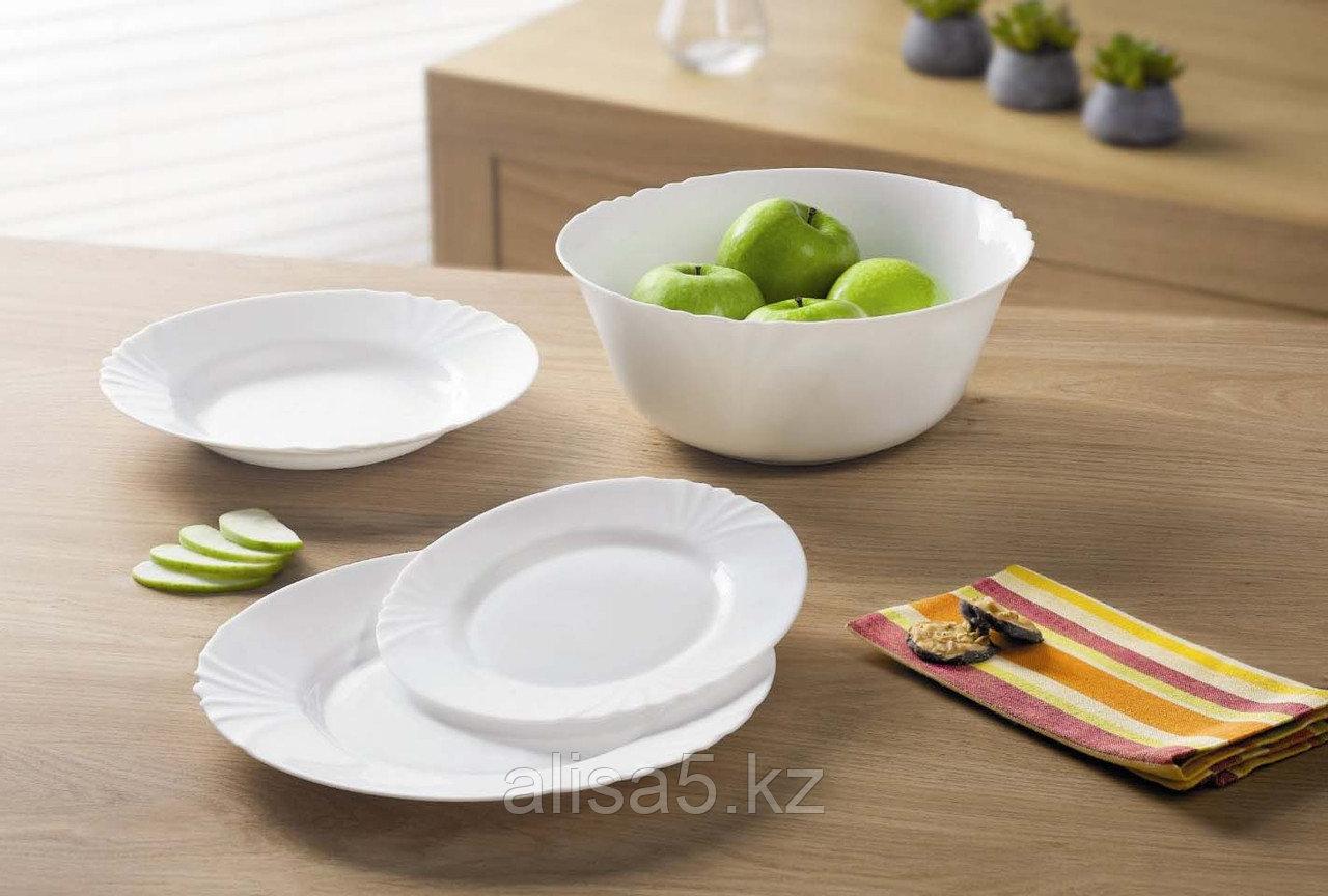 Сервиз столовый белый CADIX 19 предметов