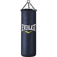 Боксерская груша Everlast кожа 100см черный, фото 2