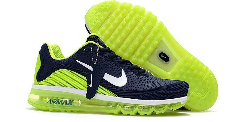 Кроссовки Nike Air Max 2017 Version 2 синие с зеленым
