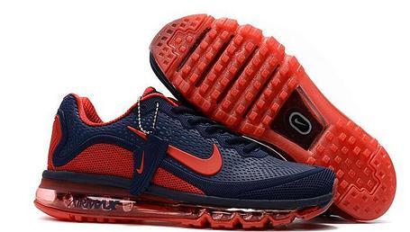 Кроссовки Nike Air Max 2017 Version 2 синие с красным, фото 2