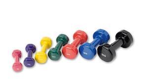 Гантели цветные для фитнеса
