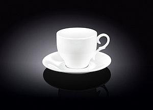 Набор: чайная чашка и блюдце Wilmax 220 мл 2 пары (фирменная коробка)