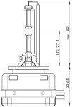 Ксеноновая лампа Osram Xenarc Original D1S 66140 - фото 4