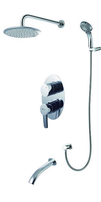 Смеситель для ванны и душа встраиваемый  LeMark Серия ATLANTISS LM3222C