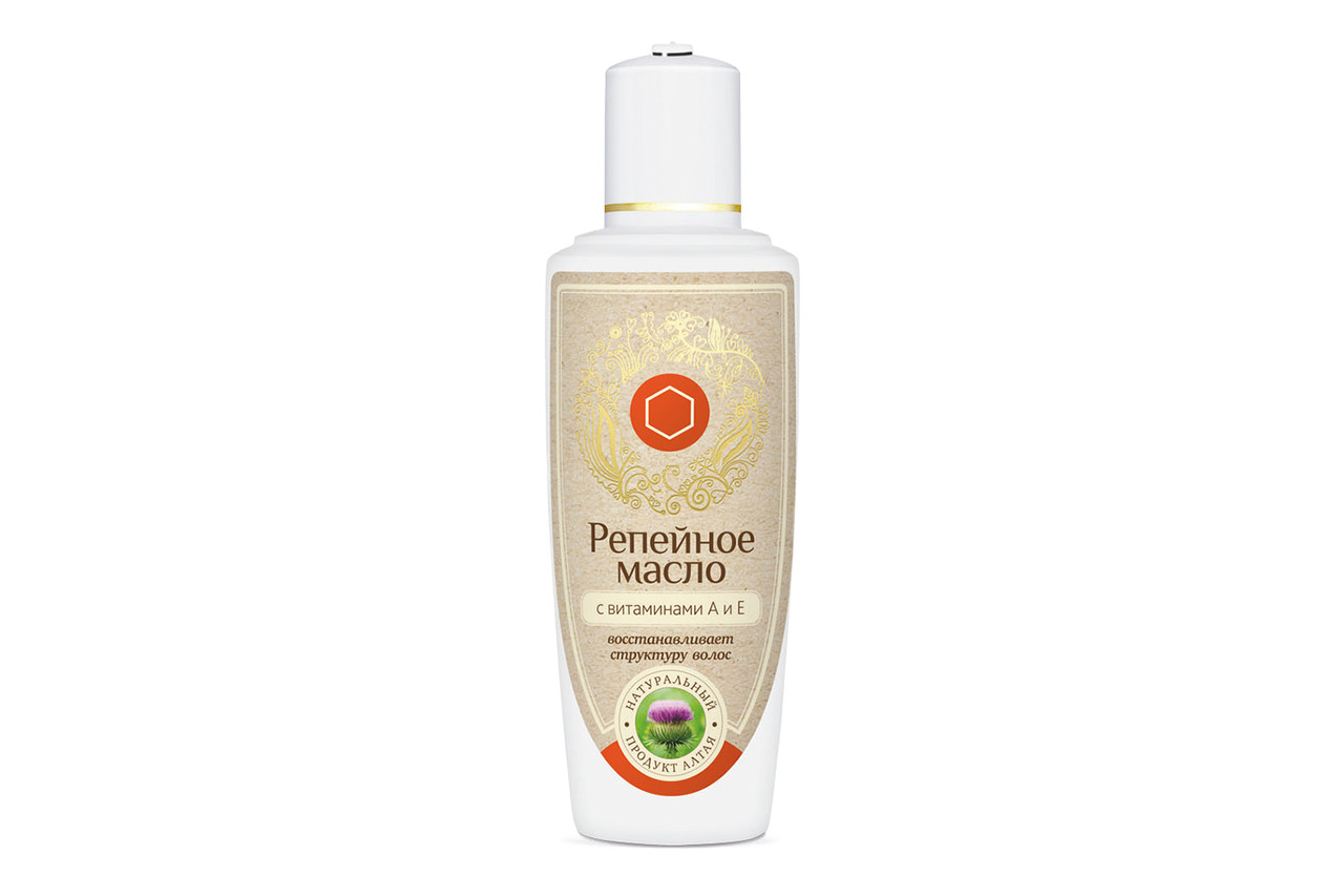 Репейное масло с витаминами А и Е, для восстановления структуры волос, 100мл