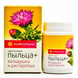 Апифитокомплекс Цветочная пыльца + володушка и расторопша, для печени,  60таб