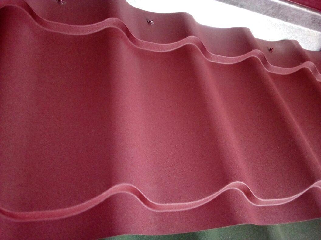 Металлочерепица МП Ламонтерра -Х матовый 0,45 Красный 2570 тг/м2 при заказе свыше 100 м2