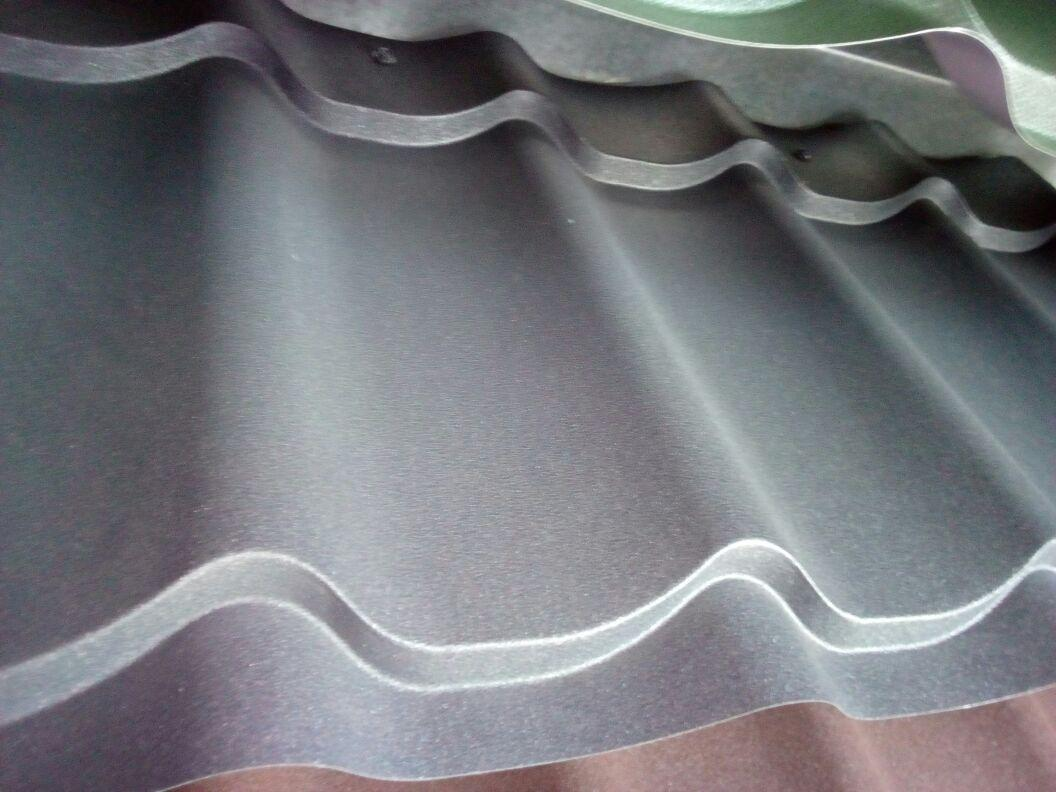 Металлочерепица МП Ламонтерра Х VikingMP полимерное покрытие, матовый 0,45 Серый 7024